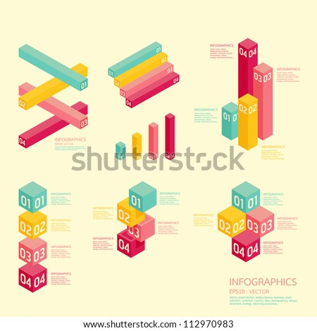 Modern soft color graph Design   / can be used for infographics / numbered banners /  graphic or website layout vector
