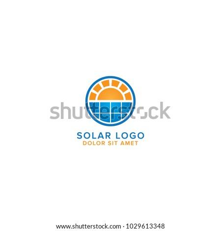 Modern Solar Energy Logo Design Vector