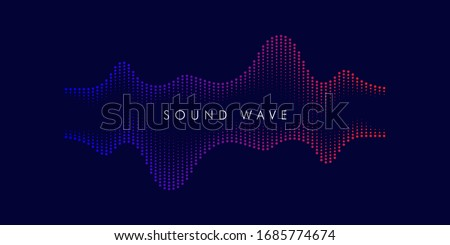 Modern Sound wave equalizer. Vector abstract background with dynamic waves, dots, line and particles. Illustration Illustration - EPS 10 Stock photo ©