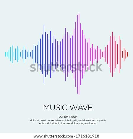 Modern sound wave equalizer. Vector illustration on dark background - EPS 10 Stock photo ©