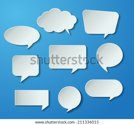 modern speech bubble for website graphic and business.