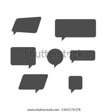 modern speech set of bubbles