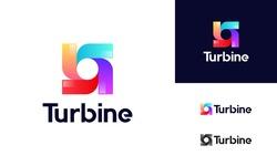 Modern Spinning Turbine logo designs concept, Wind Power energy Technology logo