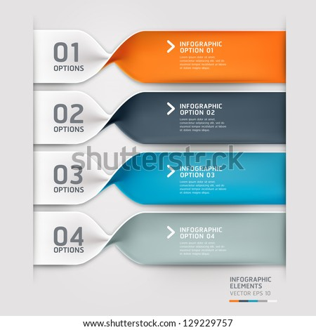 Modern spiral infographics options banner. Vector illustration. can be used for workflow layout, diagram, number options, web design.