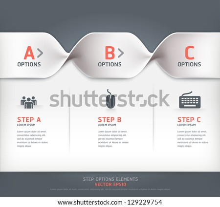 Modern spiral step options banner. Vector illustration. can be used for workflow layout, diagram, number options, web design.