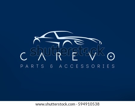 modern sports car logo racing