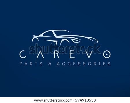 modern sports car logo racing