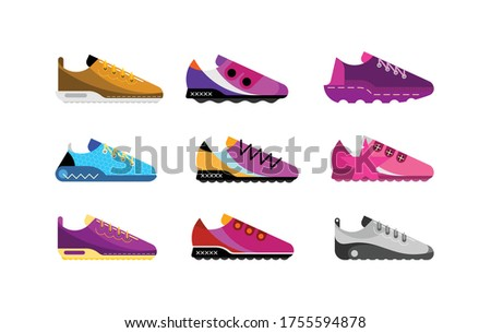 modern sports shoes collection
