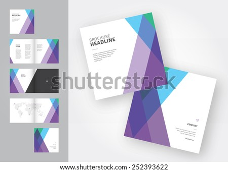 modern square brochure template