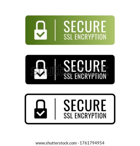Modern SSL encryption icon. Vector. Photo stock ©
