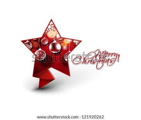 Modern star christmas design, eps10 vector illustration
