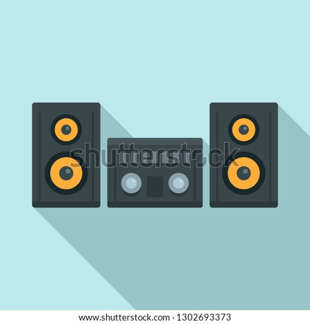 Modern stereo system icon. Flat illustration of modern stereo system vector icon for web design