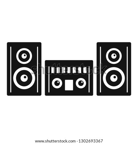 Modern stereo system icon. Simple illustration of modern stereo system vector icon for web design isolated on white background