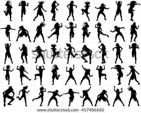modern style dancers vector