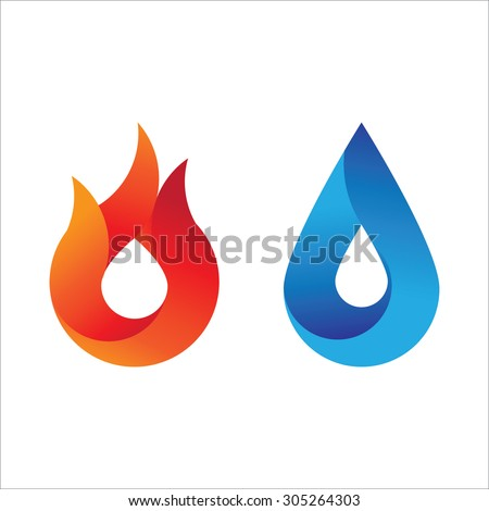 modern style fire and water