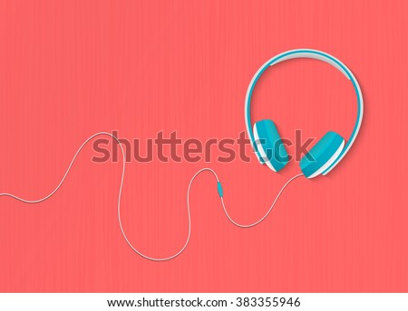 modern style headphones on the