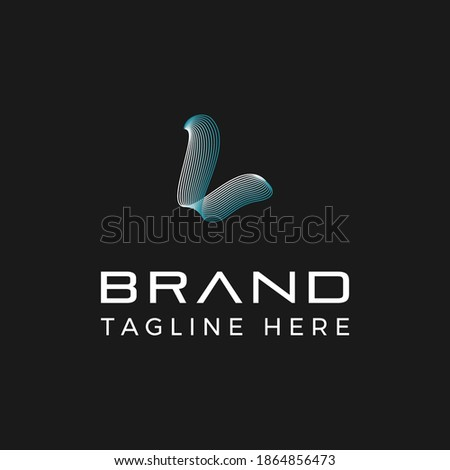 Modern style initial letter L with high technology vibe logo template Stock fotó ©