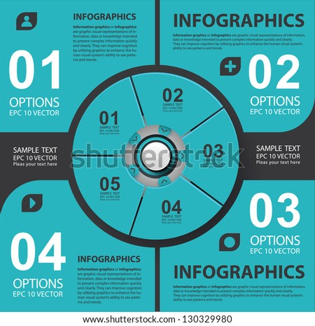 Modern style, options banner. Web design, infographics.  Number options