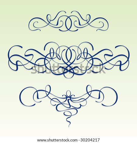 stock vector : Modern style scrolls - Art nouveau design elements