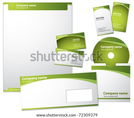 Modern style vector template