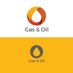 Modern Styled Logo. Drop Gas and Oil Logo