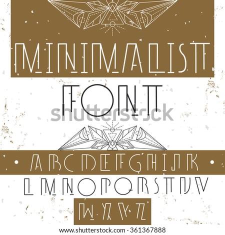 Modern stylish alphabet for your design.