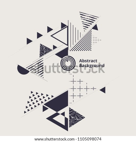 Modern stylish of geometric blue abstraction background. vector eps10 #1105098074