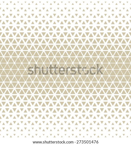 Modern stylish texture of the triangles and hexagons. Vector seamless pattern. Repeating geometric tiles. White and gray texture.