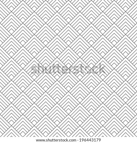 Modern Stylized Geometric Seamless Pattern Vector Background