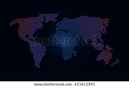 9 stylish vector world map vector download free vector art modern stylized world map flat vector illustration isolated gumiabroncs Choice Image