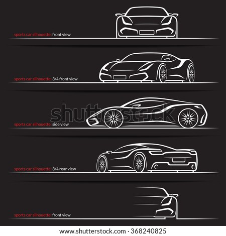 Supercar outline images 11