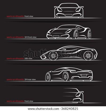 modern super car  sports car