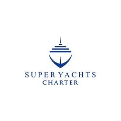 Modern Super Yacht Charter Logo Design Vector