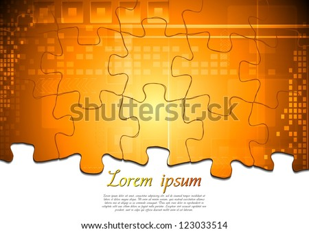Modern tech background. Puzzle vector design eps 10