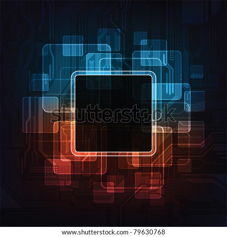 modern technology theme vector background with frames for text. Eps10 - stock vector