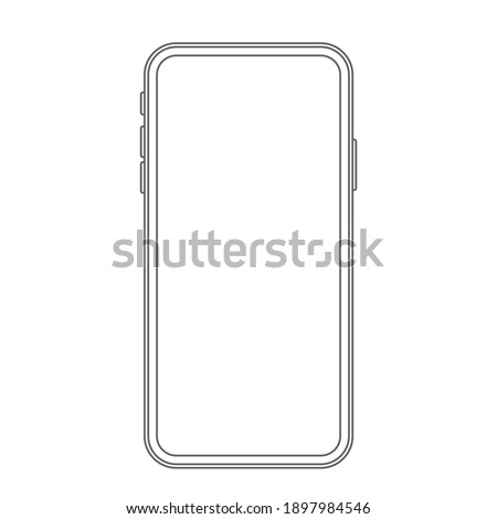 modern telephone in linear style. vector illustration