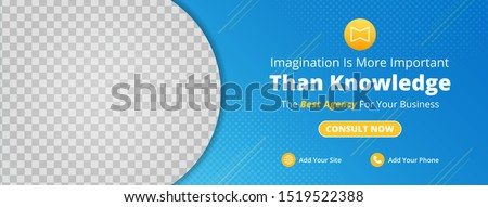 Modern template banner and cover for social media design, design for ads, file with layered