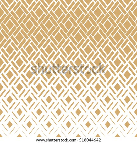 Modern  texture with rhombuses, squares . Stylish vector pattern. Repeating geometric tiles. Gold and white texture.
