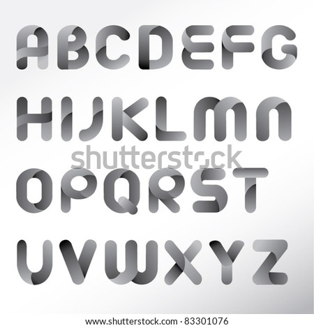 modern three dimension alphabet set