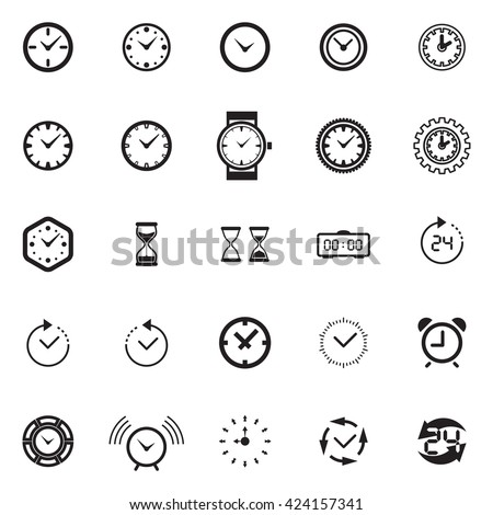 modern time icon vector  time