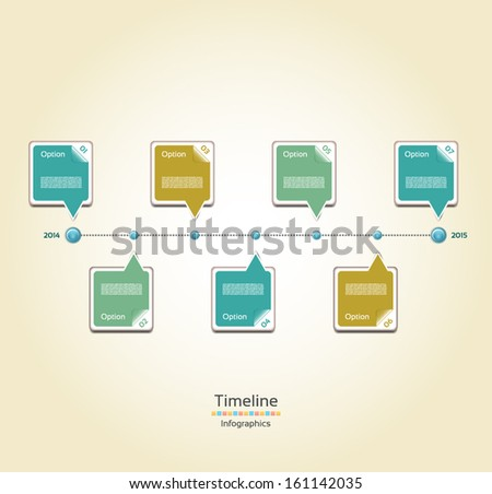 Text Boxes Timeline Download Free Vector Art Stock Graphics - Timeline design template