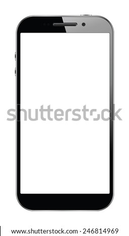 Modern touchscreen smartphone isolated on white background. EPS10 vector