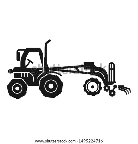 Modern tractor machinery icon. Simple illustration of modern tractor machinery vector icon for web design isolated on white background
