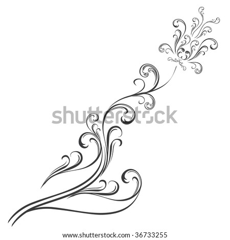 Modern-Traditional Vintage-Abstract Transylvanian flower pattern for ...