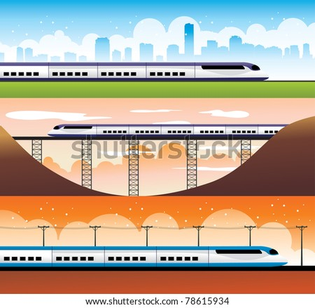 modern trains vector