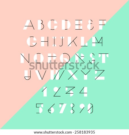 modern trendy geometric font
