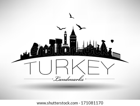 Modern Turkey Country Skyline Design