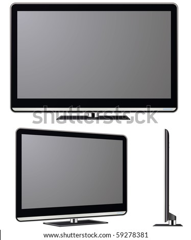Modern TV vector set. Electronics vector collection.