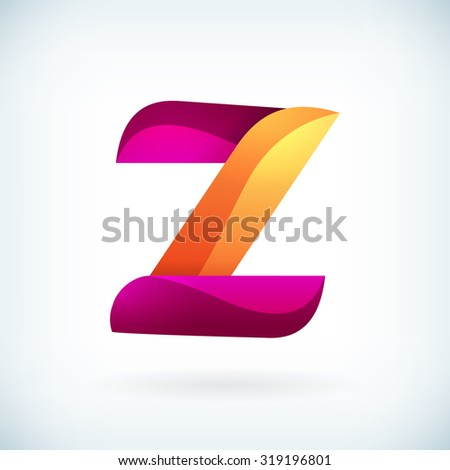 modern twisted letter z icon
