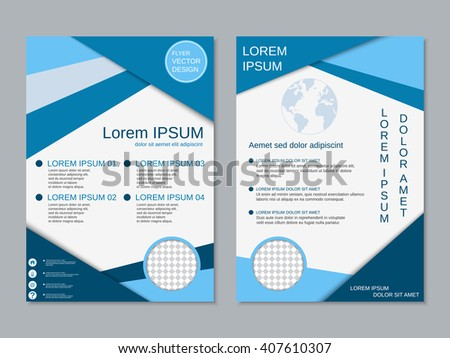 royalty free professional two sided booklet template 403659190